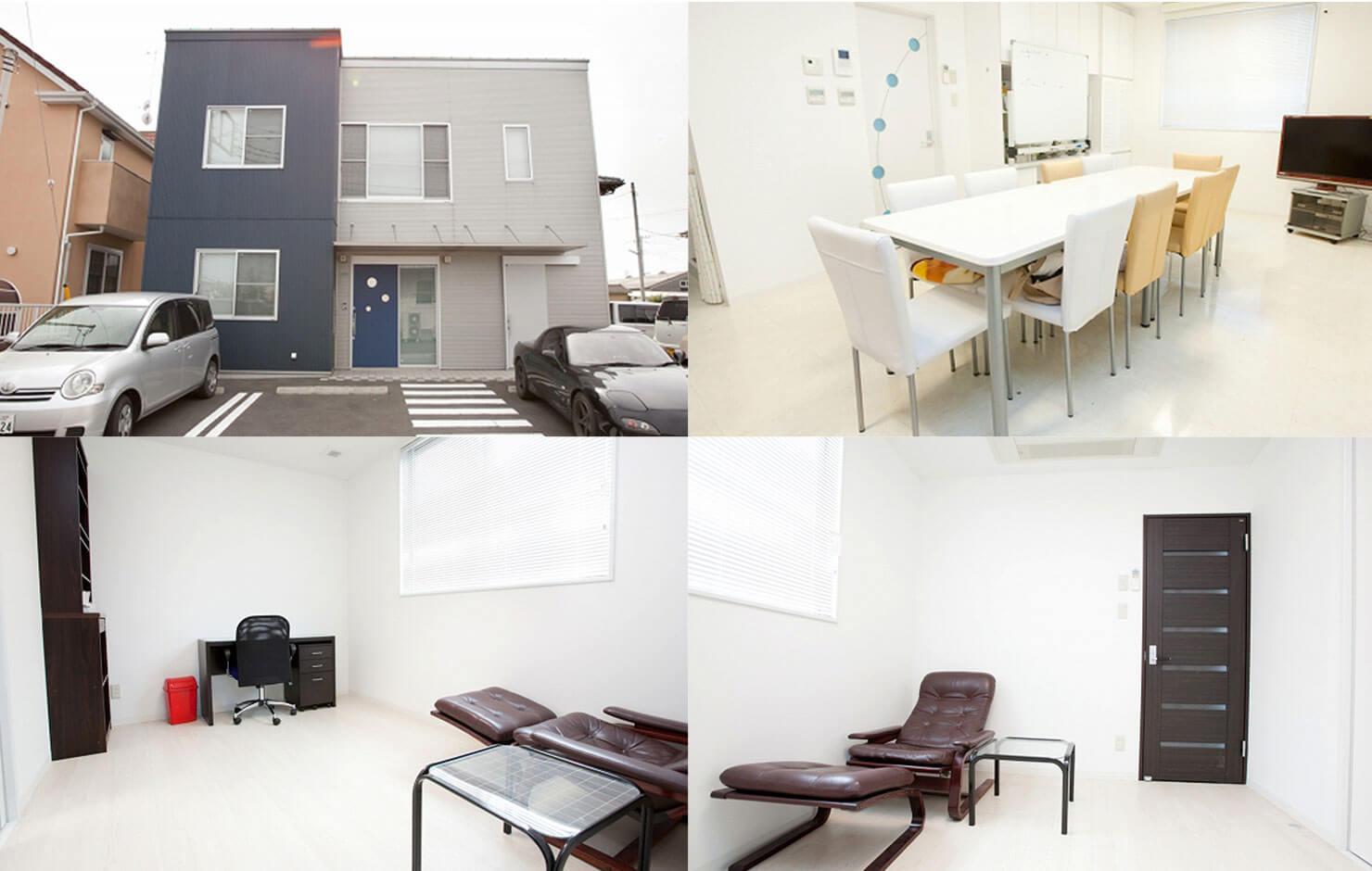 ミーティングルーム・スタッフルーム / ドクター用の個室(別棟)
